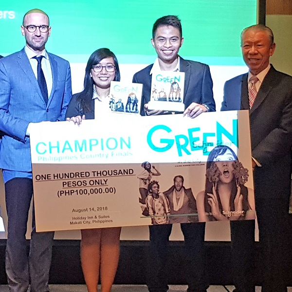 DLSU-Manila wins Schneider's Go Green in the City PH Finals