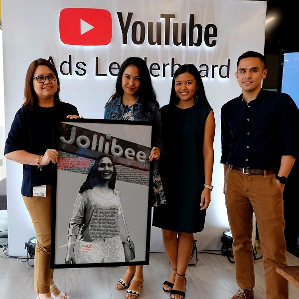 Jollibee leads Youtube PH Ads Leaderboard with four spots