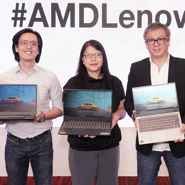 Lenovo launches laptops with AMD CPUs and GPUs