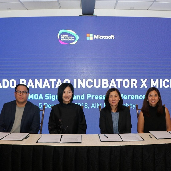 Microsoft teams up with The Incubator at AIM