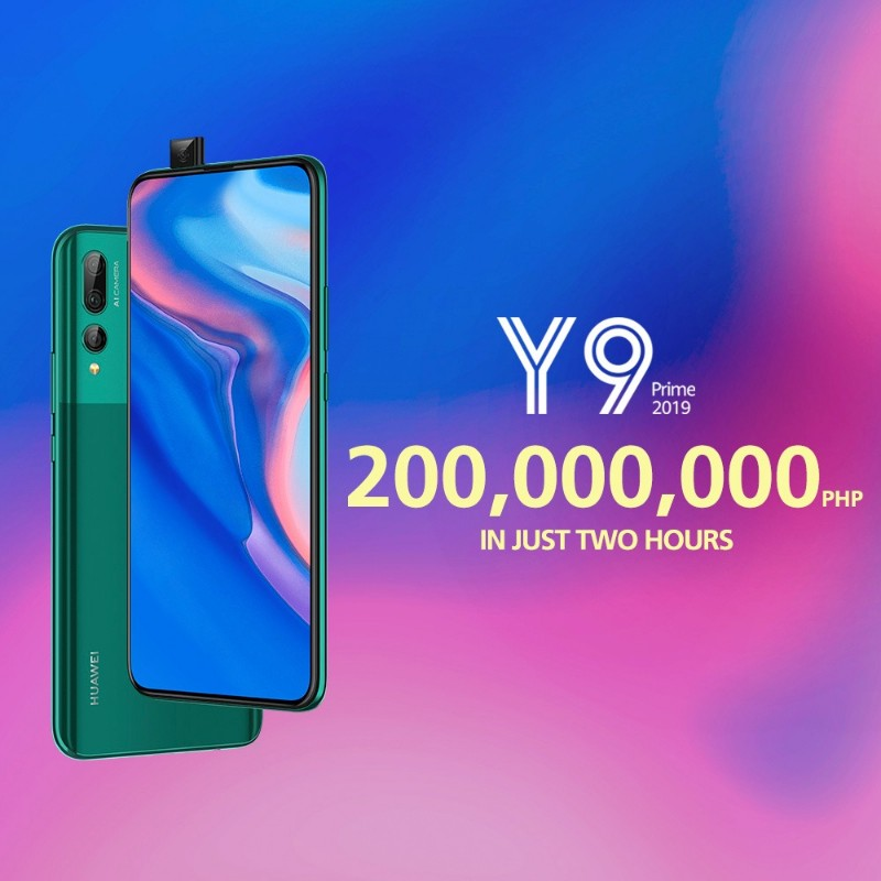 P200M worth of Huawei Y9 Prime 2019 sold out in just two hours!