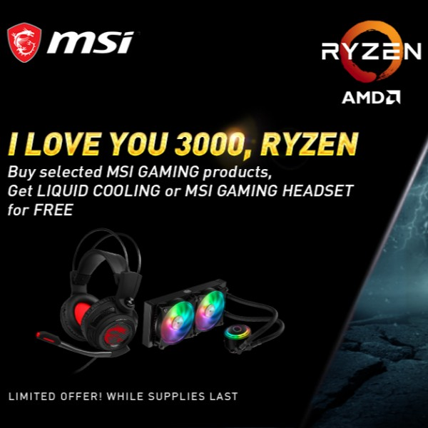 Cool prizes up for grabs in MSI's I Love You 3000, Ryzen promo