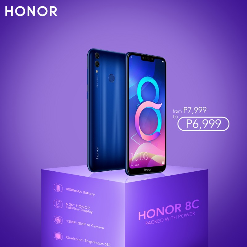 Honor slashes prices of 8C and 8X smartphones this August