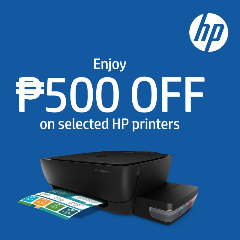 HP Ink Tank All-in-One printers on offer with P500 discount