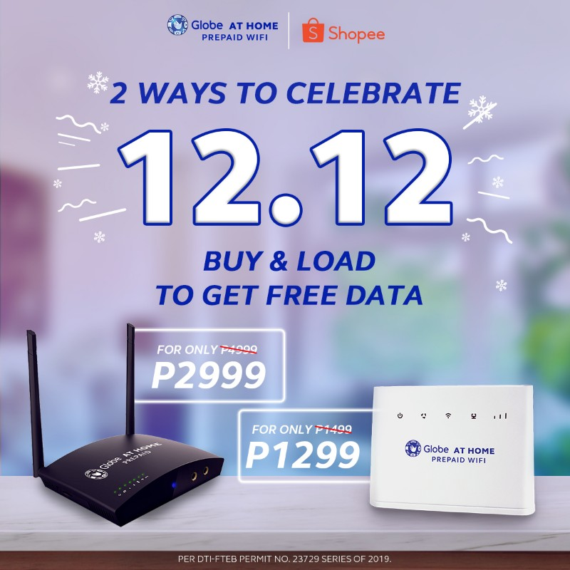 Globe At Home Prepaid WiFi devices more affordable on Shopee 12.12