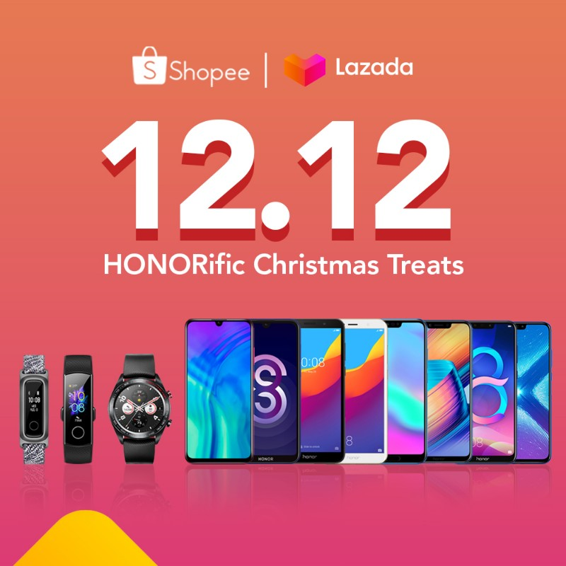 HONOR offers HONORific deals on Shopee, Lazada 12.12 Year End Sale