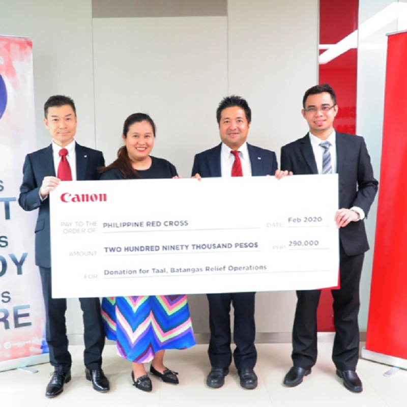 Canon Philippines and Philippine Red Cross send aid to help Taal volcanic eruption evacuees