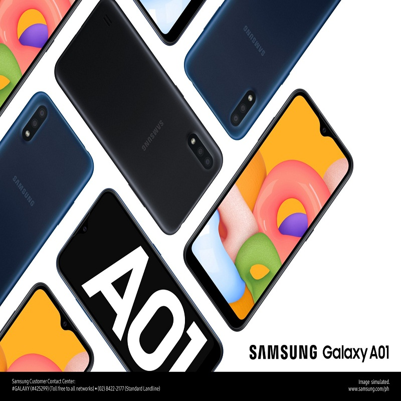 SAMSUNG's newest smartphone, the Galaxy A01, is now available for only PHP5,490!