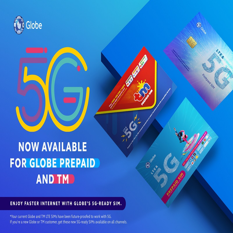 Globe's 5G service now available to Prepaid and TM Subscribers