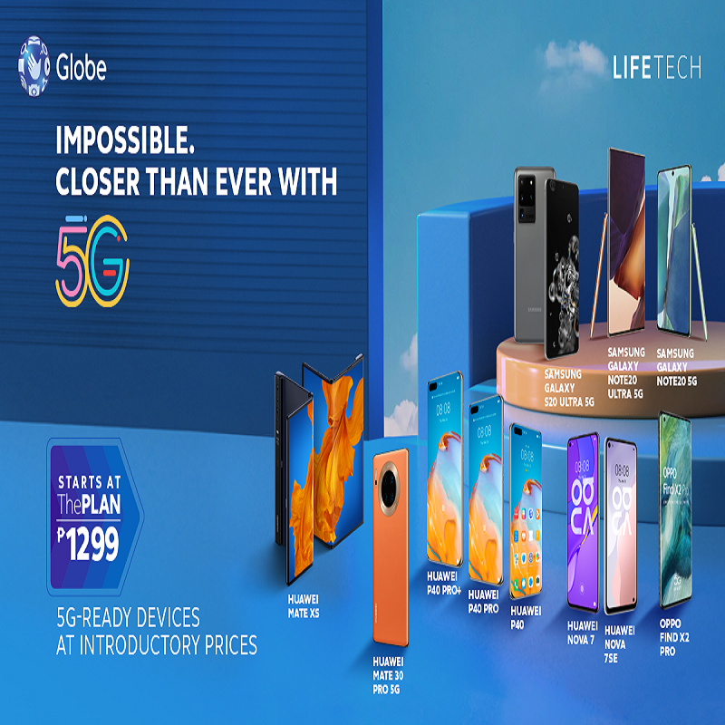 Globe Postpaid Brings You One Step Closer to Experiencing #Globe5G with Discounted Prices for 5G Devices